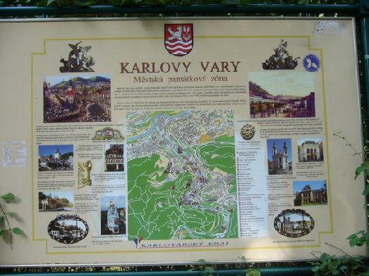 Карта Карловых Вар установлена