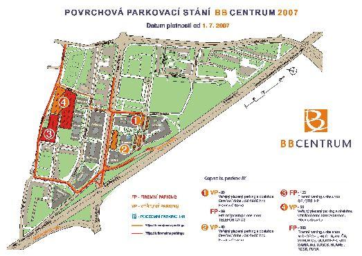 Карта делового комплекса в Праге