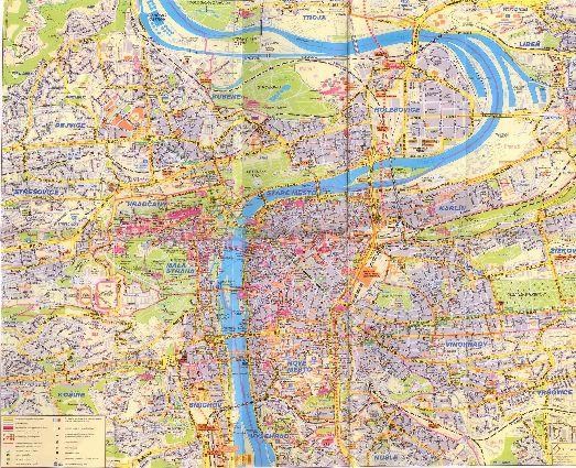 Большая карта Праги