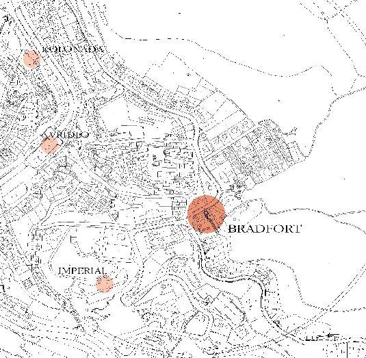 Отель Брадфорт на карте города