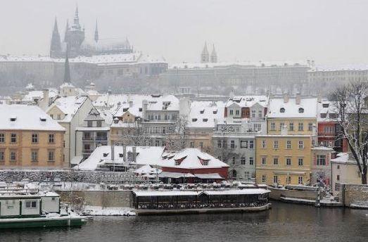 В феврале в Праге практически всегда лежит снег
