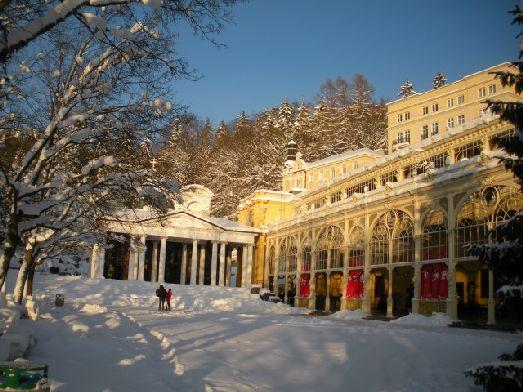 В январе в Карловых Варах всегда стоит минусовая температура