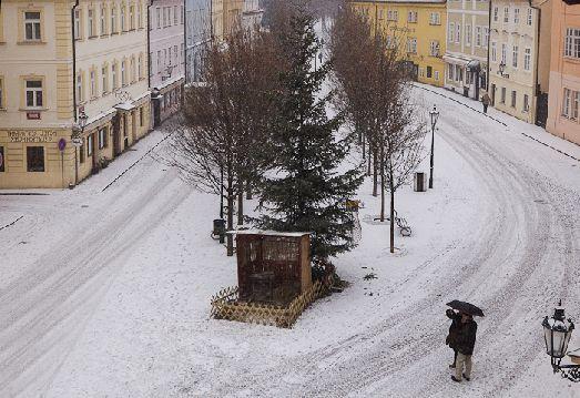 В январе в Праге стоят морозы