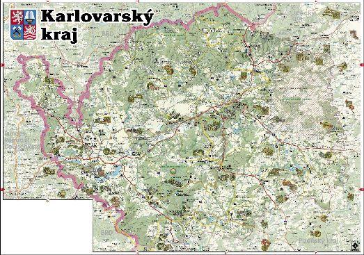 Карловарский край, карта