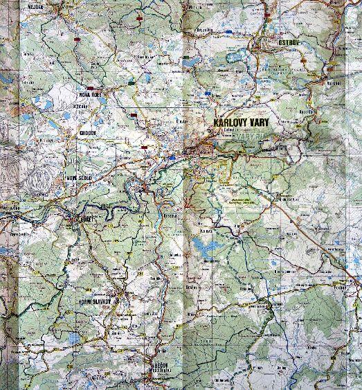 Подробная карта всех дорог Карловых Вар