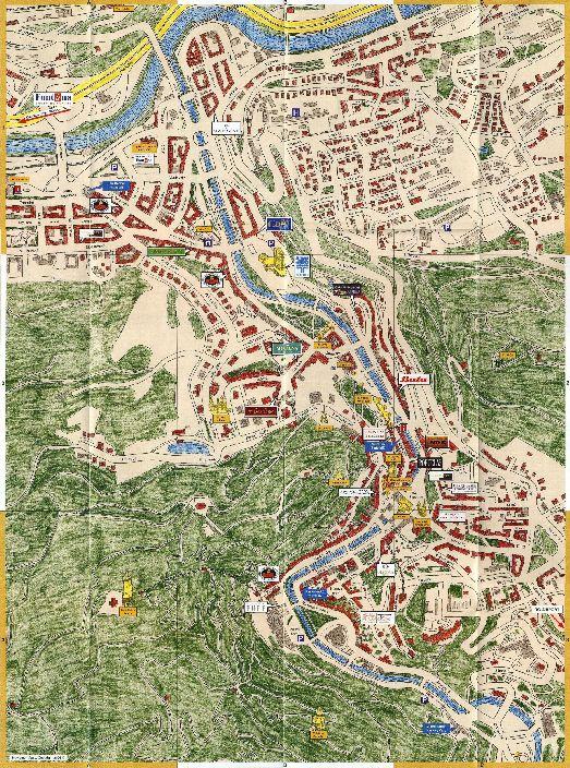 Рисованная карта Карловых Вар