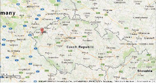 Карловы Вары на карте области