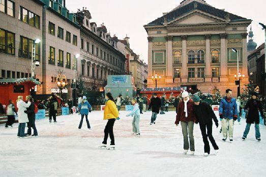 Каток в Праге - излюбленное место многих детей и взрослых зимой