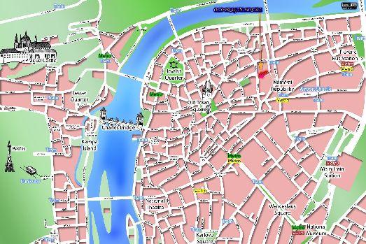 Карта Старого Города Праги