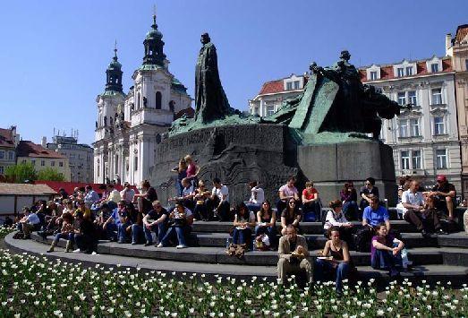 В мае в Праге стоит чудесная погода