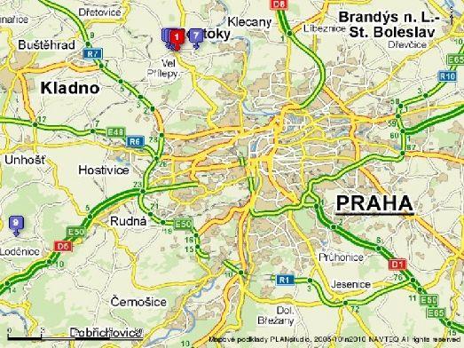 Пострите подборку интересных карт Праги