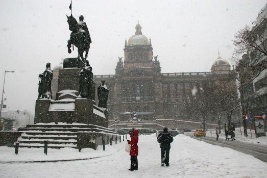 В отдельные года в Праге в декабре бывают и снегопады