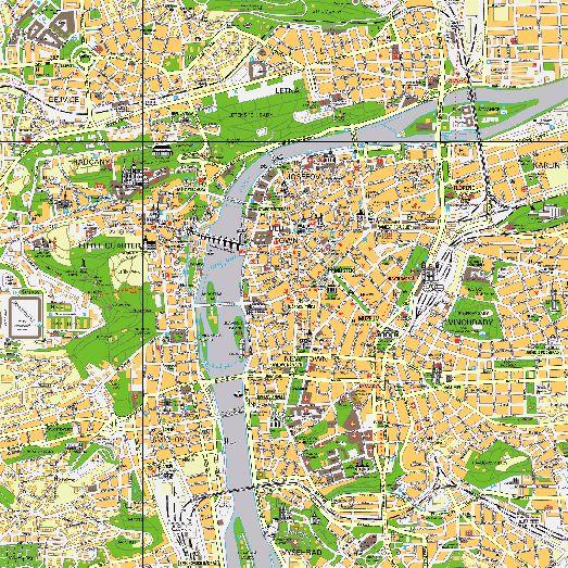 Карта центра города Праги