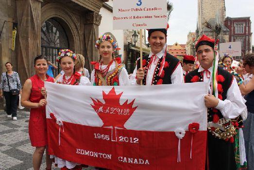 Дни фольклора в Праге, команда из Канады