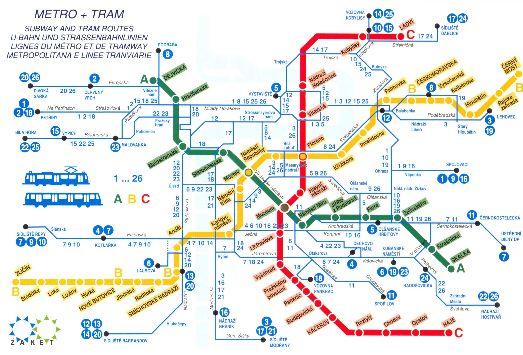 Карта метрополитена Праги