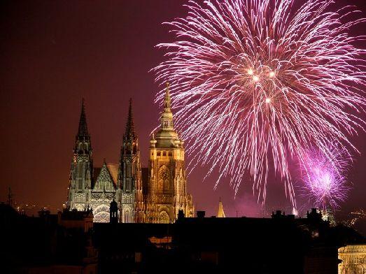 Ну вот и первые минуты Нового Года в Праге