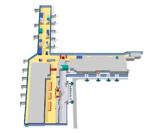 Наглядная схема Терминала 2 аэропорта Праги