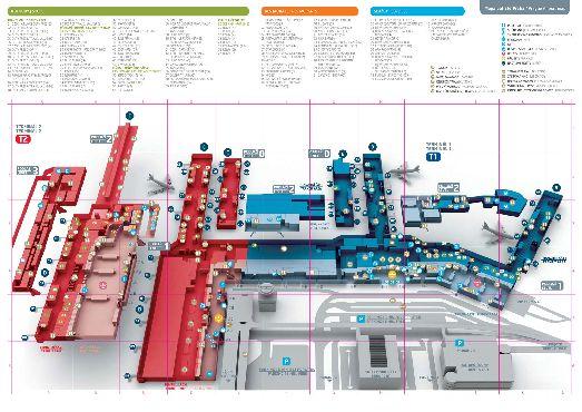 Большая карта аэропорту Рузине