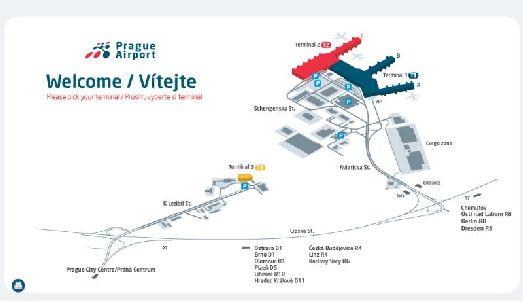 Другая схема аэропорта Праги